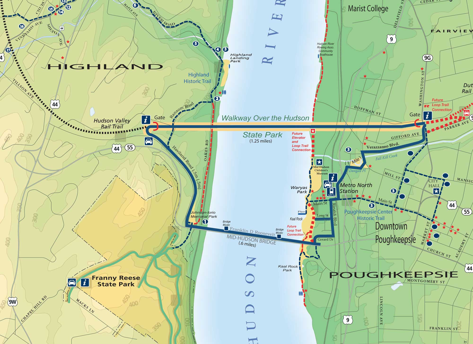 Hudson Valley Rail trail map