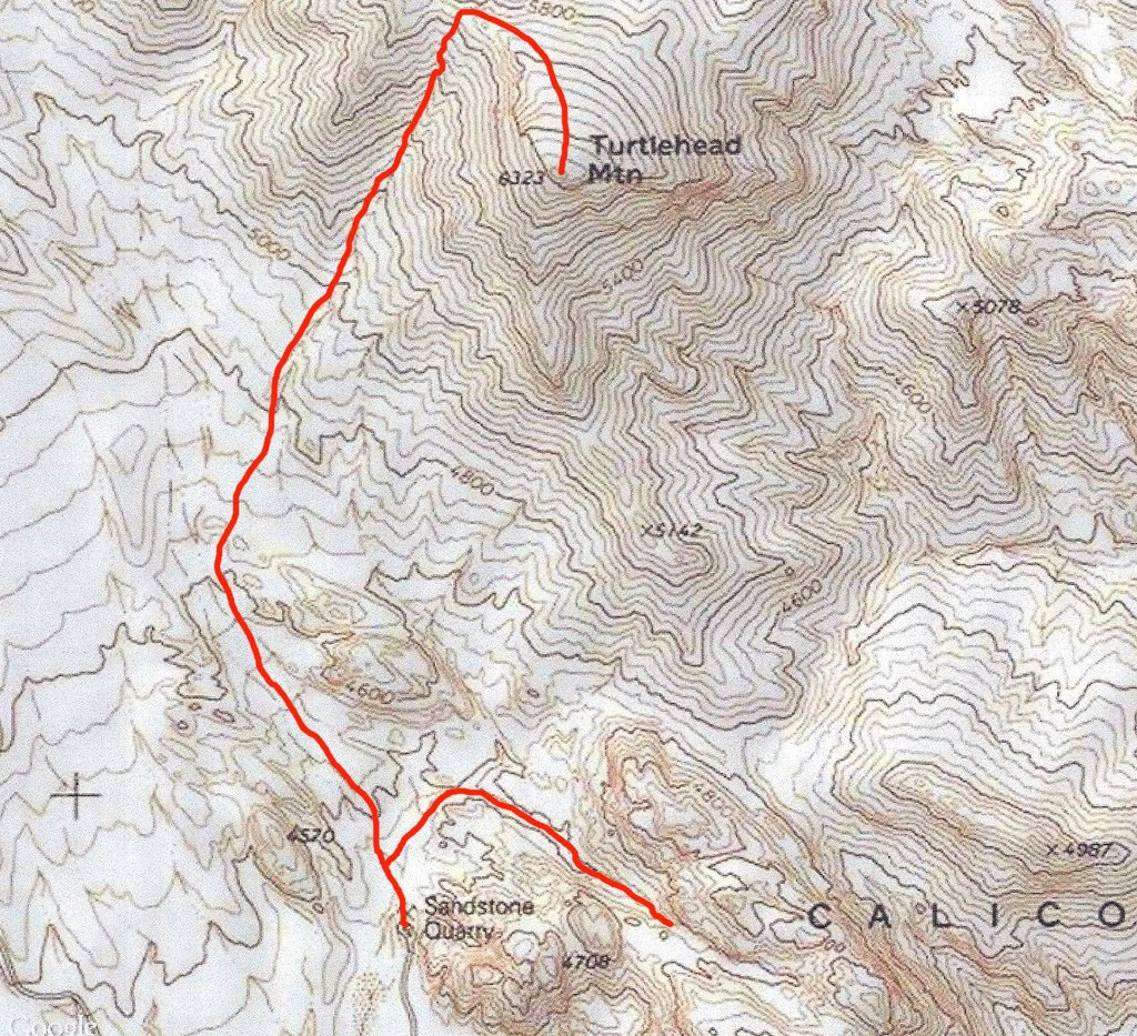Turtle head peak trail map
