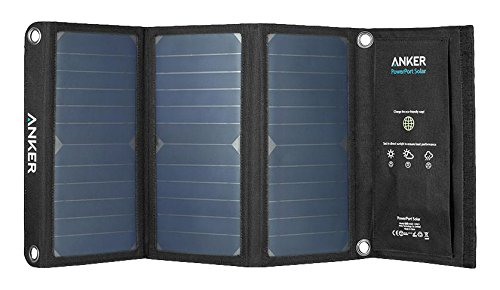 Anker PowerPort Solar as one of the essential camping gear