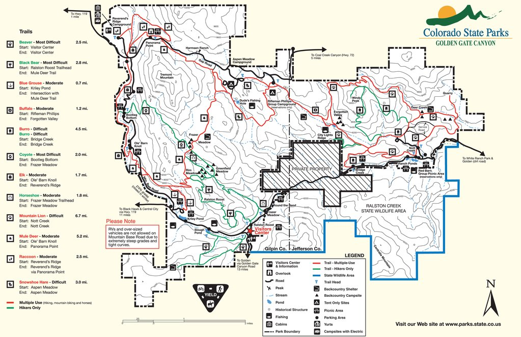 Golden Gate Canyon State Park Map