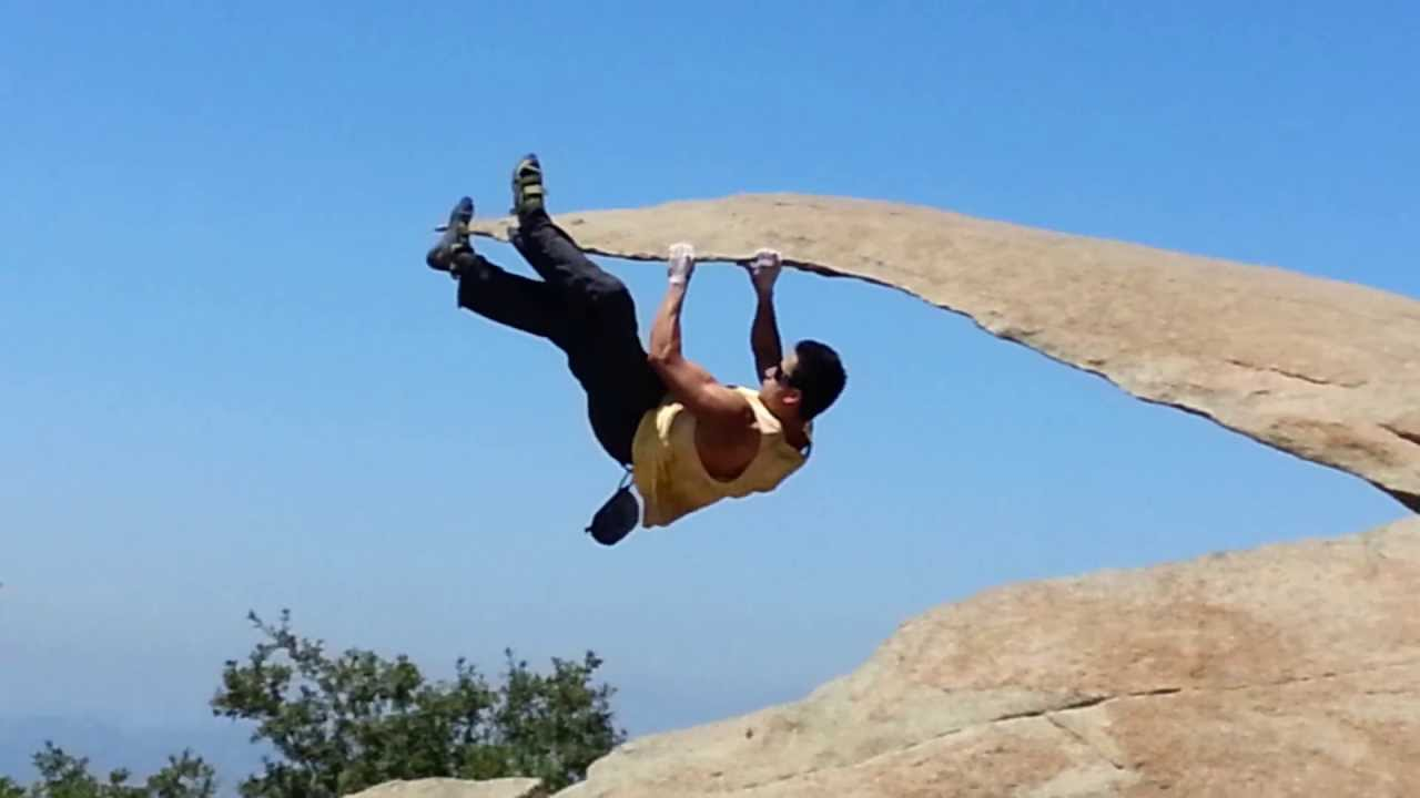 San Diego Man Hiking Potato Chip Rock