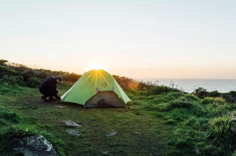 mount tamalpais - setting camp