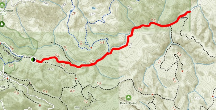 map of Curry Point and Balancing Rock trail