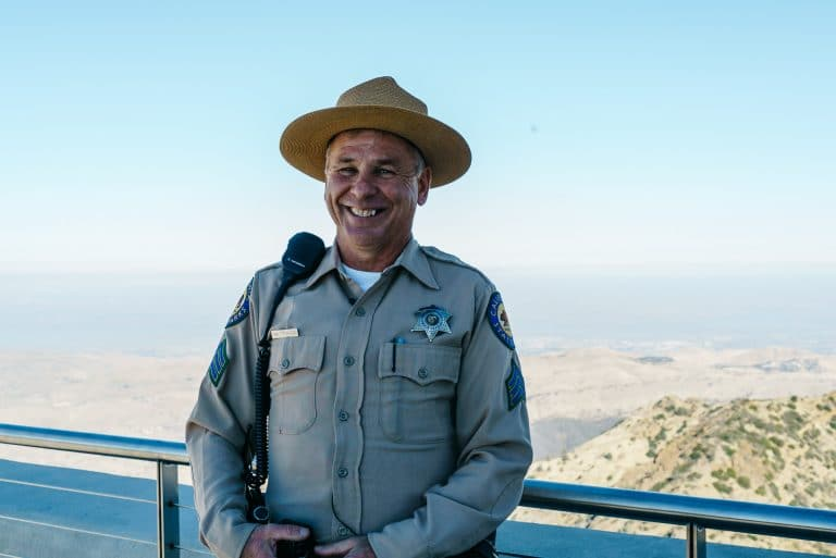 smiling security officer of mt. diablo