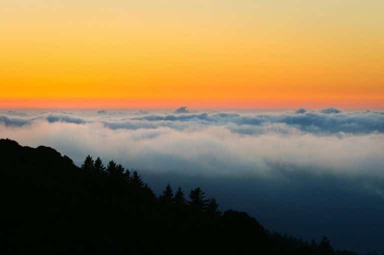 mount tamalpais - sunset shot in mount tamalpais
