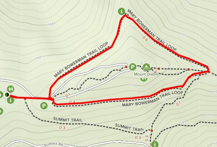 map of mary bowerman trail loop